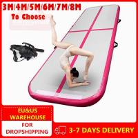 3m 4m 5m Inflatable Track Gymnastics Mattress Yogo Electric Air Pump Gym Tumble Airtrack Floor Yoga Olympics Tumbling wrestling
