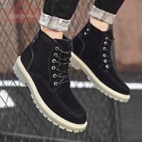 2020 Autumn Winter Men Boots For Ankle Boots Ankle Boots Men Suede Winter Shoes Plush Warm Men Shoes Adult Fashion Male Shoes
