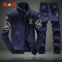 2020 NEW Men's Casual Suit Set Autumn Student Sportswear Zipper Sweater Coat Two-Piece 6XL