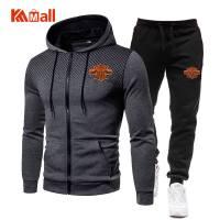 New Winter Men's Clothing Men Sets Printing Hoodie Set Fleece Zipper Sweatshirt Casual Sport Sweatpants Mens Tracksuits 2021
