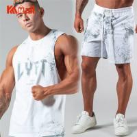 Mesh Men's Sportswear Suits Vest+Shorts Gym Training Clothes Workout Jogging Sports Set Running Rashguard Tracksuit For Men
