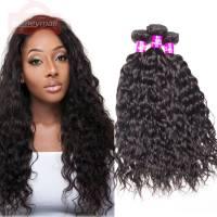 Mink Hair Malaysian Water Wave 4 Bundles Hair Soft Malaysian Virgin Hair Wet And Wavy Human Hair Bundles