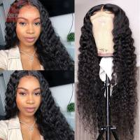 250% High Density Deep Wave Human Hair Lace Front Wigs