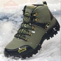 Men Waterproof Hiking Shoes Breathable Tactical Combat Army Boots New Outdoor Climbing Shoes Non-slip Trekking Sneakers