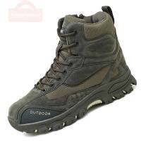 Tactical Military Combat Boots Men Genuine Leather US Army Green Shoes