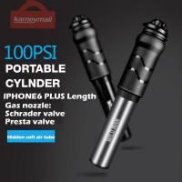 New Aluminium Alloy Portable Mini Bike Bicycle Pump 88g 100PSI Ultralight High Pressure Hand Inflator for Schrader/Presta valve