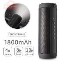 Bluetooth Music Bass Speaker Waterproof Portable Outdoor LED Wireless Column Loudspeaker Support TF Card FM Radio Aux Input