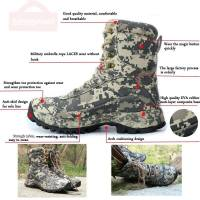 Men Tactical Waterproof Boots Winter Hunting Boots Army Camouflage Boots
