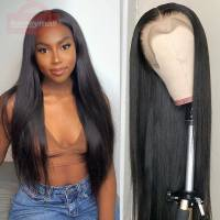 250% High Density Straight Human Hair Lace Front Wigs