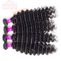 Indian Deep Curly Hair Weave 4 Bundles ,Deep Wave Tinashe Virgin Hair Bundles Deal 1b# Natual Color