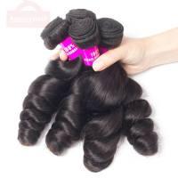 Mink Peruvian Hair Loose Wave 4 Bundles Hair Soft Peruvian Virgin Hair Loose Curly Human Hair Weave Bundles