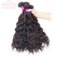 Indian Wet and Wavy Human Hair Bundles Sale Virgin Water Weave 4 Bundles Wholesale